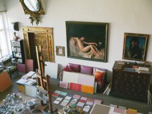 Fundación Rodríguez-Acosta. Carmen-estudio del pintor José María Rodríguez-Acosta. Estudio. Foto: Jmm, Marzo, 2014