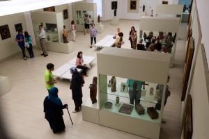 Fundación Rodrríguez-Acosta. Museo del Instituto Gómez-Moreno. Luis acompañando al grupo de las 12:30 h. Grupo bilingüe español-francés.