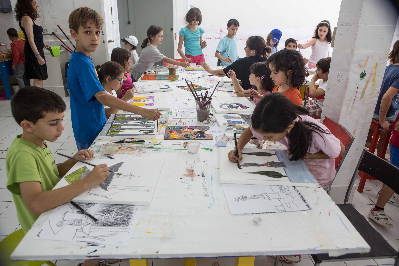 El taller de pintura para ni os de este verano blog - Pintura infantil pared ...