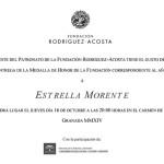 Invitación Medalla de honor protocolo