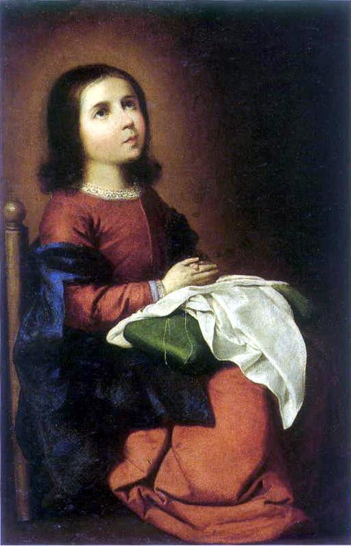 Zurbarán Virgen Niña