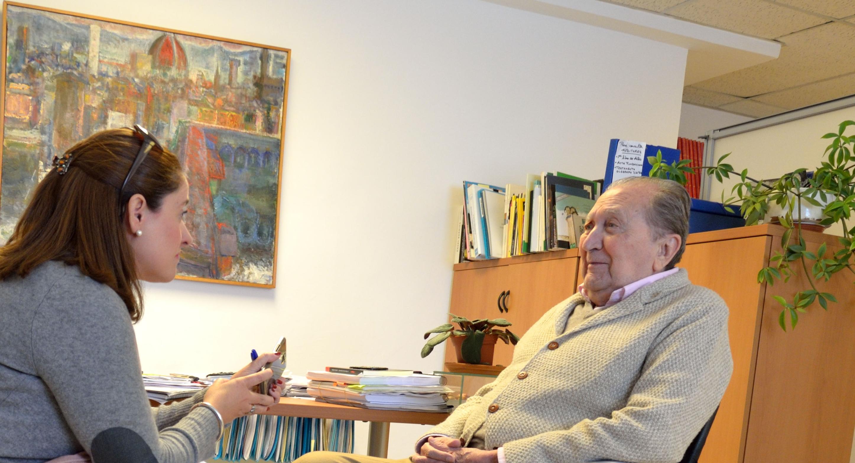 Miguel Rodríguez Acosta durante la entrevista