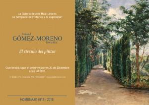 Invitación Gómez Moreno - El Círculo del Pintor