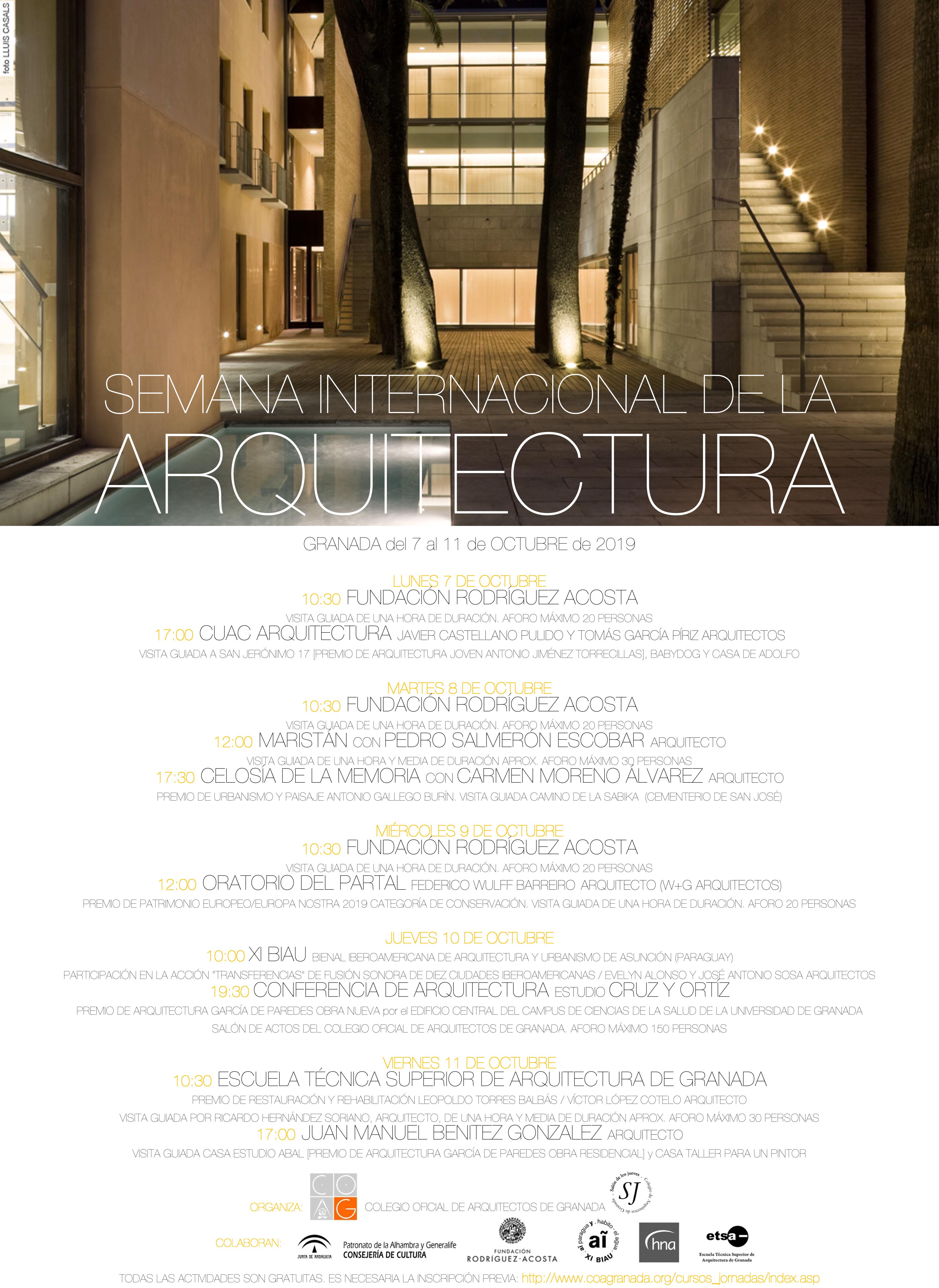 cartel SEMANA INTERNACIONAL DE LA ARQUITECTURAconFotoNoche2