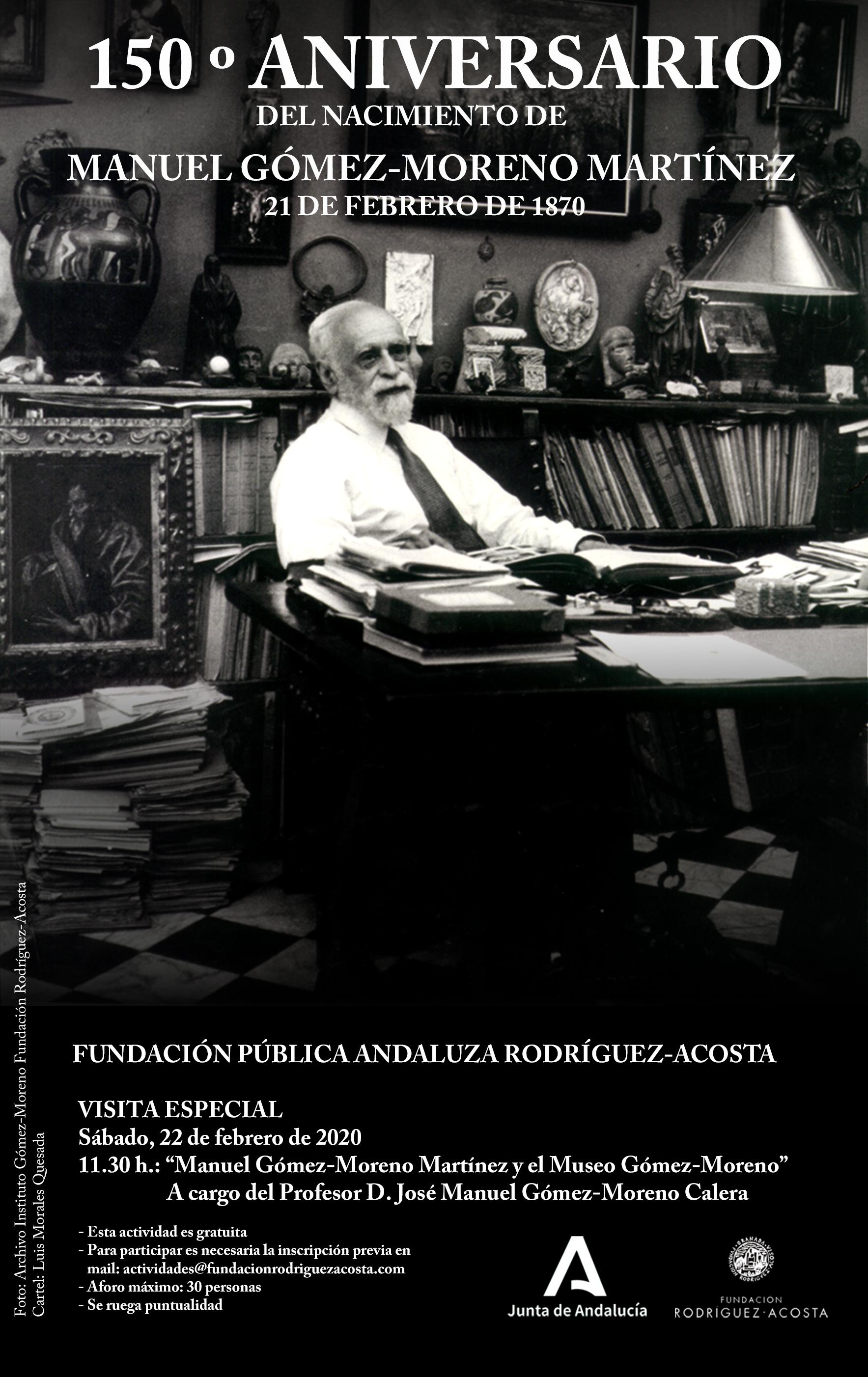 Cartel 150 aniversario gomez moreno